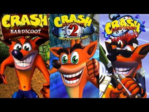 Crash Bandicoot Trilogy - Complete 100% Walkthrough (All Gems, Boxes & Crystals) HD