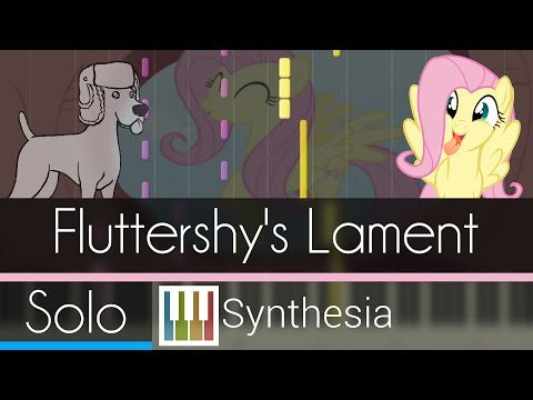 Fluttershy's Lament - |SOLO PIANO TUTORIAL| -- Synthesia HD