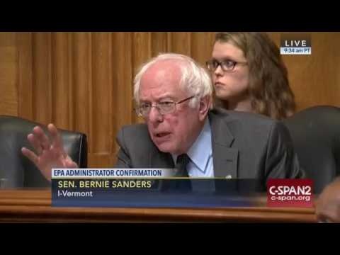 Bernie Sanders to EPA Scott Pruitt: 'WHY is the climate changing?'WHY?