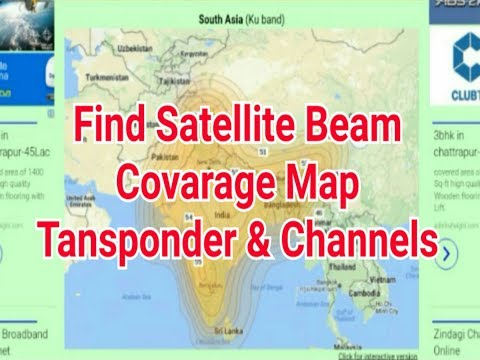 How to find Any satellite beam / Footprint / coverage map and channel frequency / Best Methode 2017