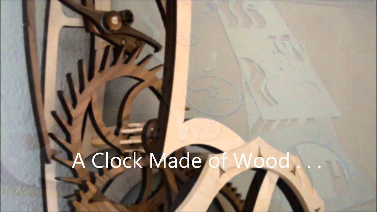 Wooden Gear Clockscom