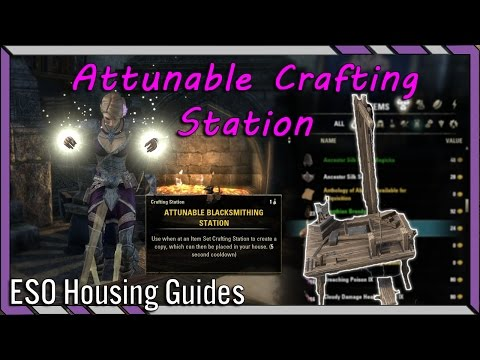 Attunable Crafting Stations - How to Attune Crafting Station in ESO - Elder Scrolls Online