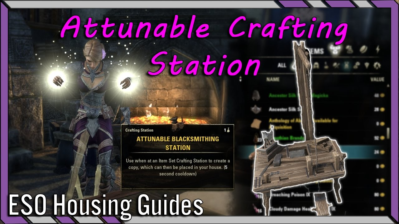 How To Get Crafting Station Eso