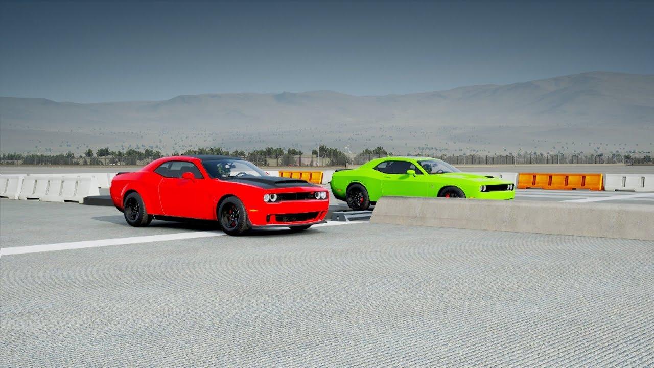 2018 Dodge DEMON vs Dodge Challenger SRT HELLCAT DRAG R ...