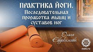Йога для начинающих. Видео уроки. Практика йоги. Последовательная проработка мышц и суставов ног.