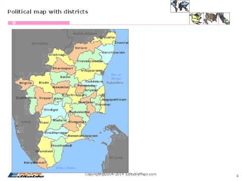 Tamil nadu editable map youtube tamil nadu editable map gumiabroncs Image collections