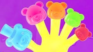 медведи палец Семья | детская песня | Jelly Bears Finger Family