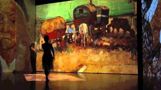 Dance amongst Van Gogh ballet performance at ArtScience Museum