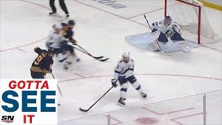 GOTTA SEE IT: Jack Eichel Dekes Around Lightning To Score Filthy Shorthanded Goal
