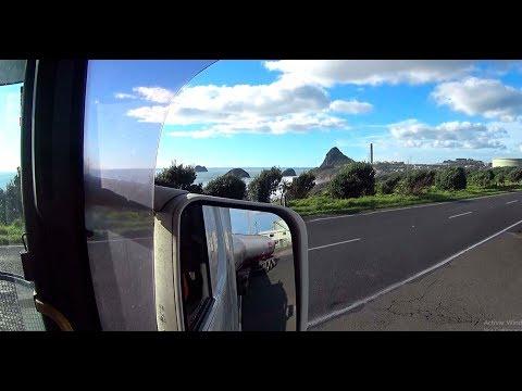 Atravesando New Plymouth en Nueva Zelanda
