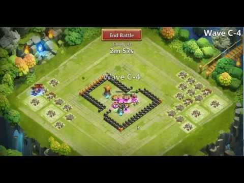 Castle Clash - Here Be Monsters - Wave C - With 2 Tower- 1 Canon Tower