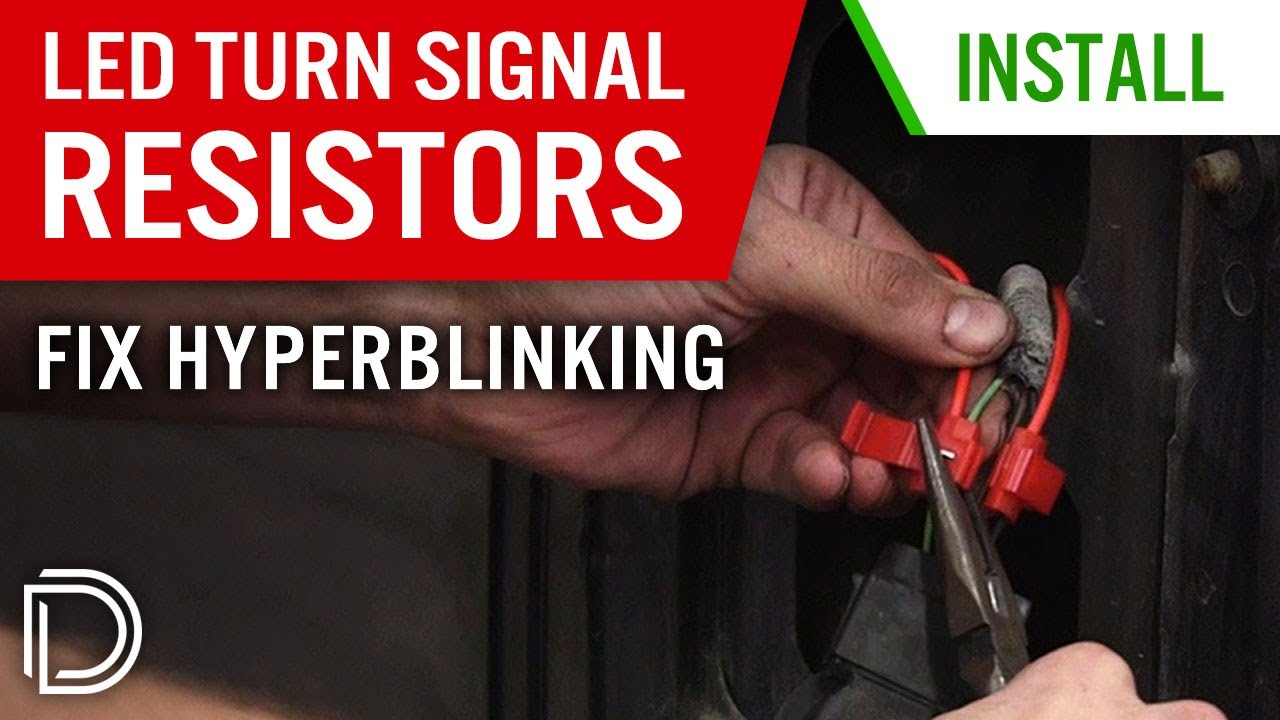 how to install resistors for led turn signals & fix hyperblinking 22 ohm resistor led wiring how to install resistors for led turn signals & fix hyperblinking
