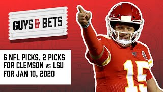 Guys & Bets: Football Friday with Six NFL Picks and Two Clemson vs LSU Picks