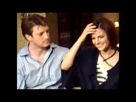Stana Katic & Nathan Fillion interview (2009) - Stana singing to Nathan ...