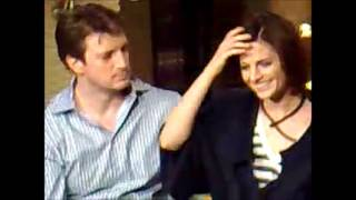 Stana Katic & Nathan Fillion interview (2009) - Stana singing to Nathan (Dream A Little Dream Of Me)