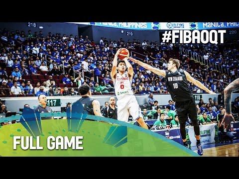 Philippines v New Zealand - Full Game - 2016 FIBA Olympic Qualifying Tournament - Philippines