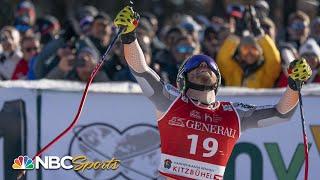 Jansrud triumphs in Kitzbuhel Super G | NBC Sports