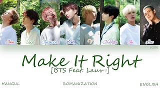 HAN ROM ENG  BTS                   - Make it Right  Feat  Lauv   Color Coded s  Resimi