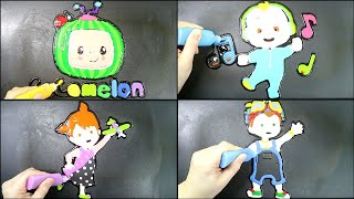 Cocomelon Pancake Art - JJ, YOYO, TOMTOM, LOGO