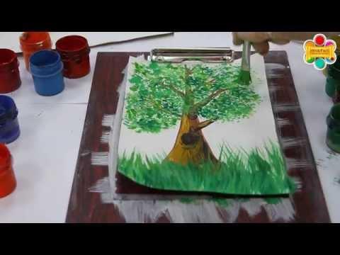Как нарисовать дерево с нуля - техника правополушарного рисования