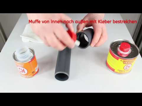 klebeanleitung pvc u rohre und fittings youtube. Black Bedroom Furniture Sets. Home Design Ideas