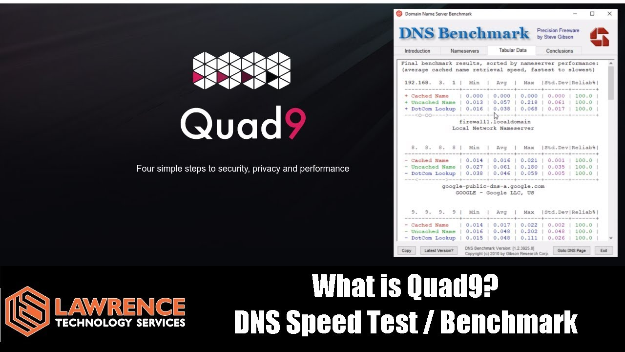 Quad9 9 9 9 9 VS Google 8 8 8 8 Benchmark Testing & Keeping Your Computer  safer with Quad9 DNS