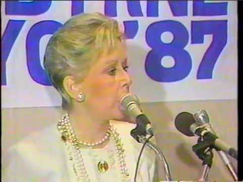 JANE BYRNE @ 1987 CHICAGO mayoral race -  news piece by JIM AVILA ( WBBM-CBS )