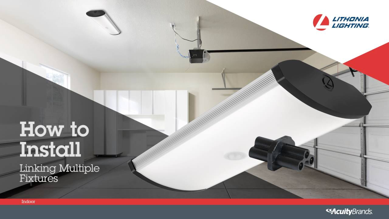 SGLL LED Garage Light Installation video from Lithonia Lighting ...