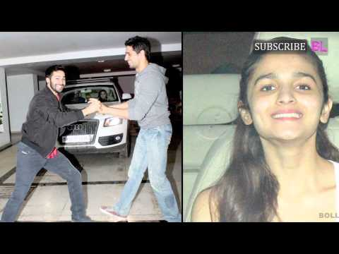 Sidharth Malhotra, Varun Dhawan and Alia Bhatt at Karan Johar's house Mp3