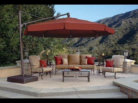Patio Furniture Umbrella Youtube