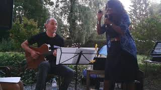Izaline Calister and Ed Verhoeff on camping les Murets,  2018