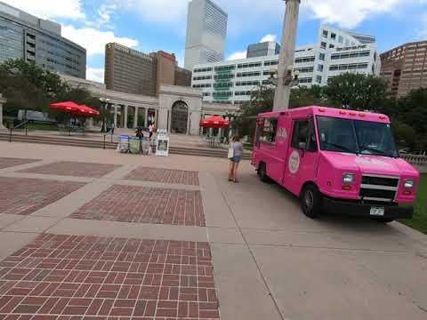 Food Truck Heaven Here In Denver's Civic Center Park.