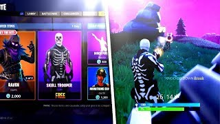FORTNITE SKULL TROOPER IS BACK! | V-BUCK GIVEAWAY @ 5K SUBS! | (ROAD TO 5K SUBS) LIVE GAMEPLAY!