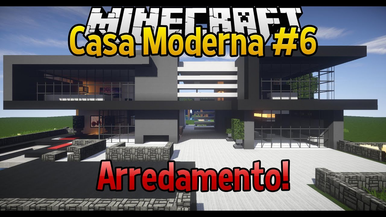 Come arredare una casa in minecraft casa moderna 6 youtube for Una storia piani di casa moderna