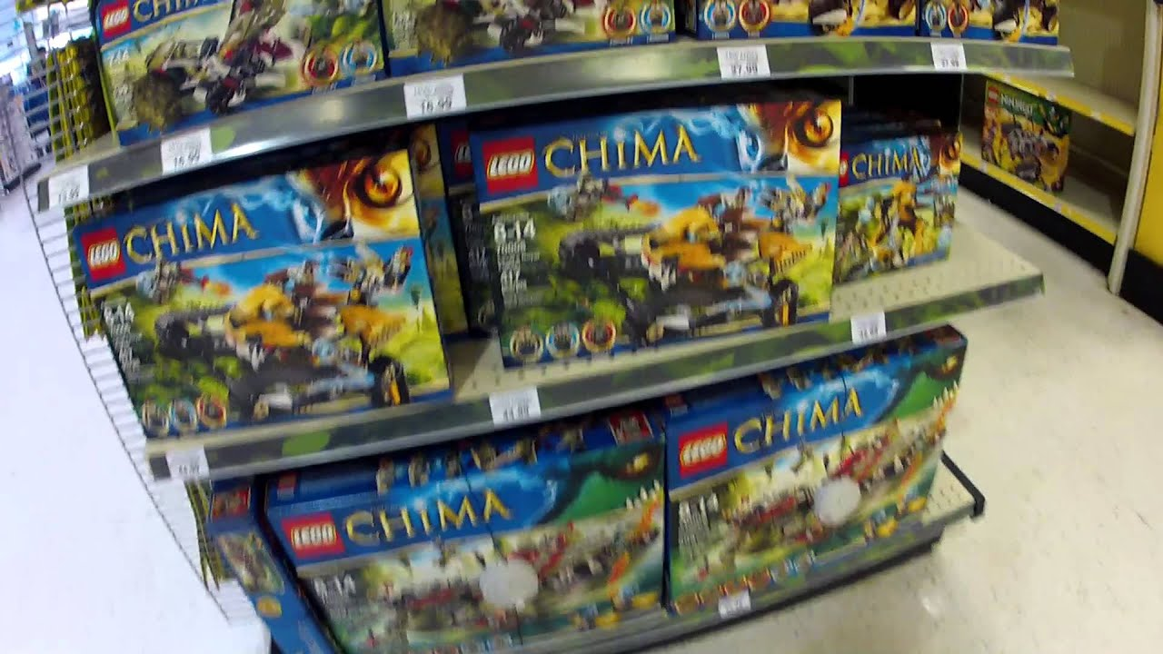 Legends of Chima Legos at Toys R Us Display! - YouTube