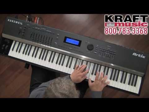 Kraft Music - Kurzweil Artis Stage Piano Demo with Chris Martirano