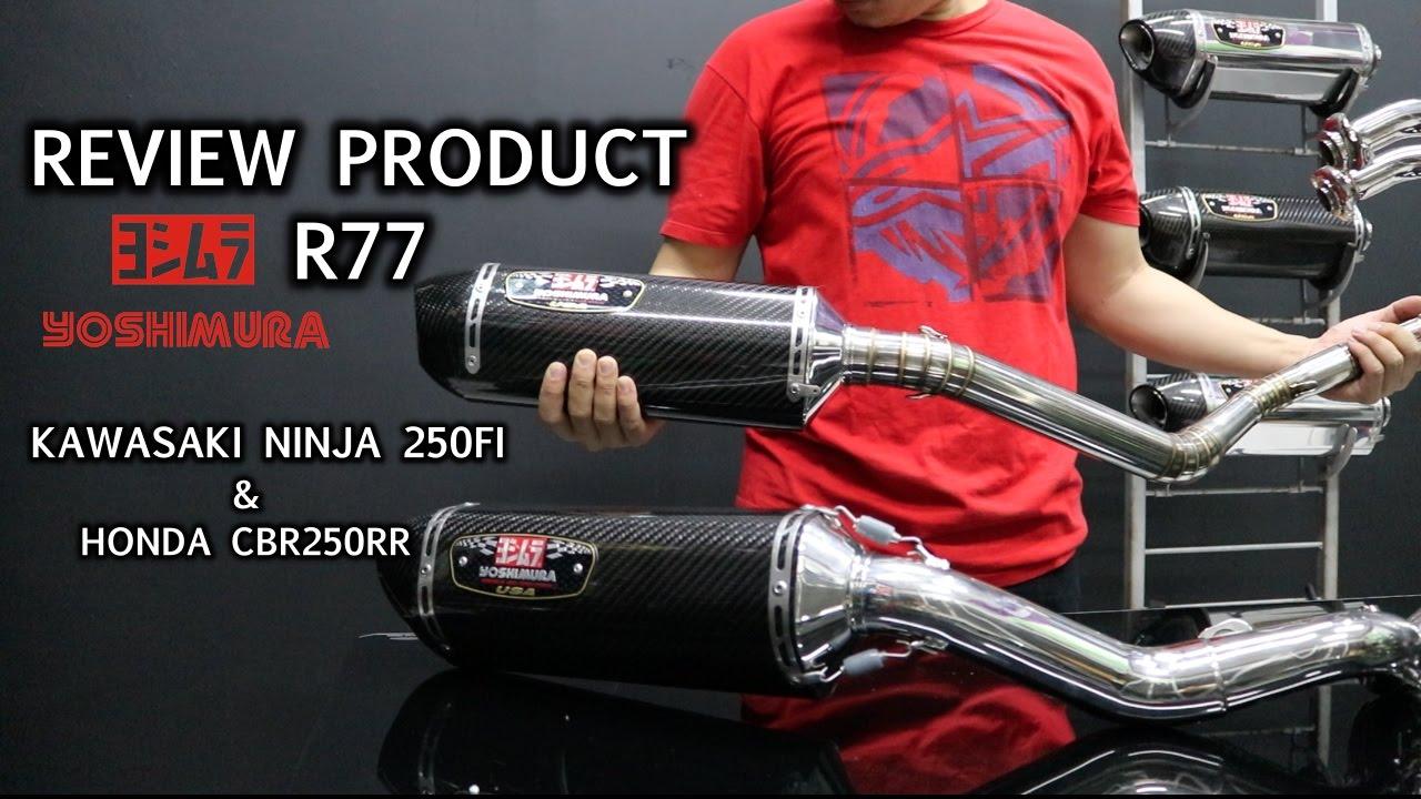 Yoshimura r77 usa review ninja honda cbr250rr youtube for Honda cbr250rr usa
