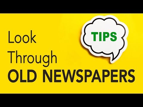 Genealogy Clips #41 | Look Through Old Newspapers | Genealogy Gold Podcast