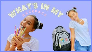 WHAT'S IN M BACKPACK | HAUL | ALISSON | SISTER FOREVER