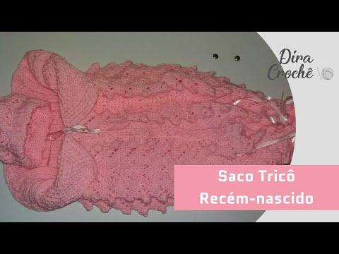 be57ff0fb719 Saco de trico para recém nascido - YouTube