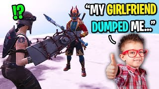 The NICEST kid on Fortnite got DUMPED by his ex-girlfriend... (THEY BROKE UP!)