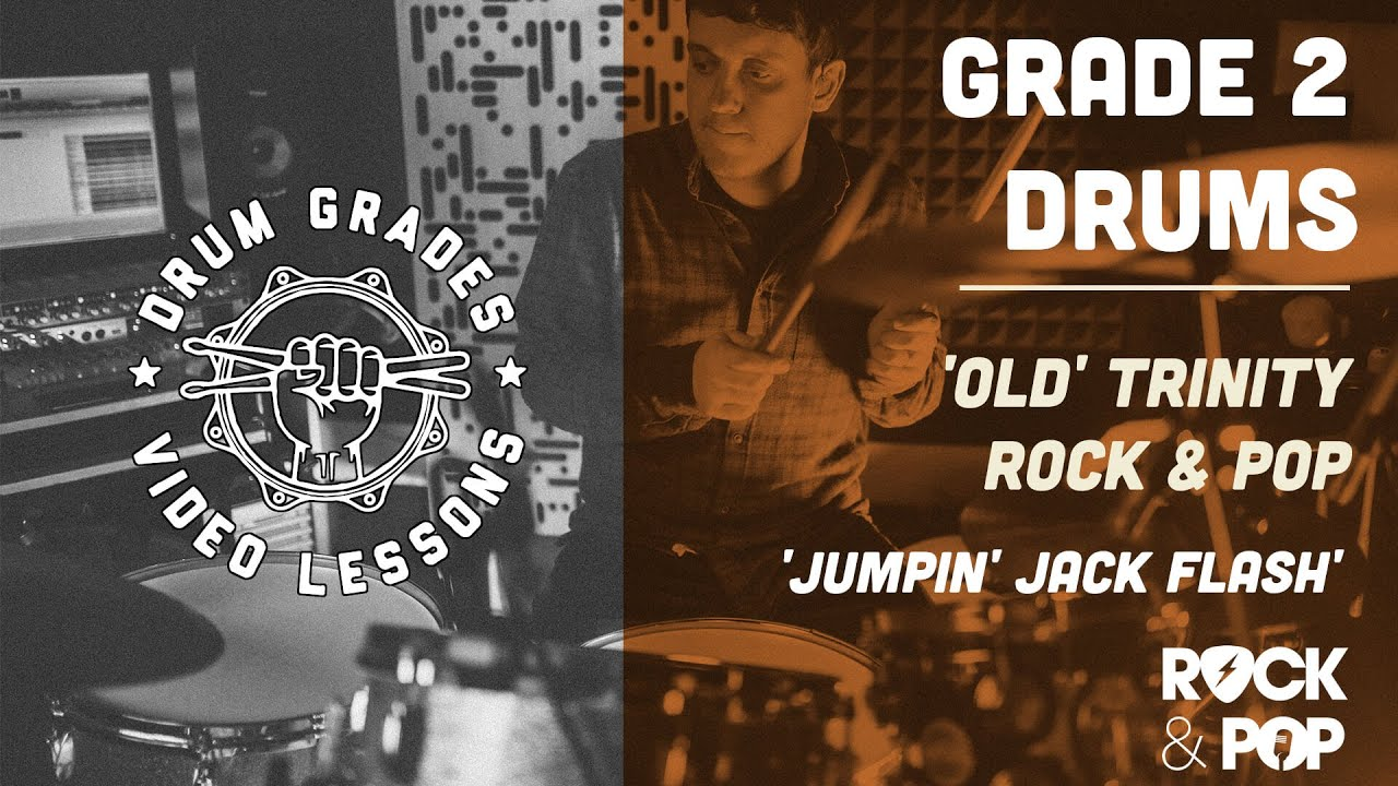 ★ Jumpin Jack Flash ★ Trinity Rock & Pop (Drums) GRADE 2 | PREVIEW Drum Lesson (Rolling Stones)