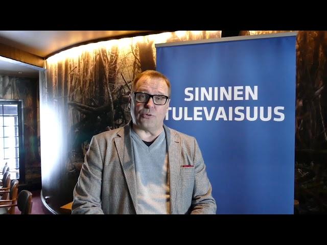 Puoluesihteeri Matti Torvinen Nurmeksessa