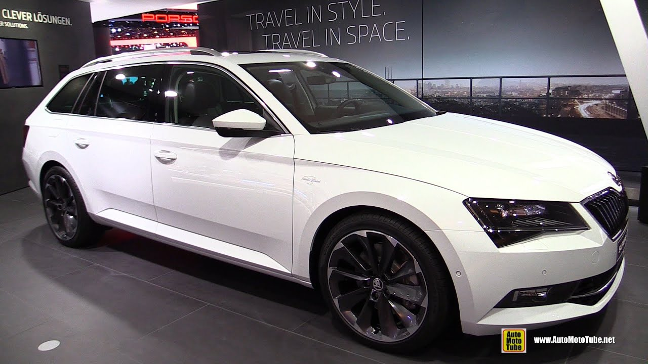 2016 skoda superb combi 2 0 tsi 4x4 exterior and interior walkaround 2015 frankfurt motor. Black Bedroom Furniture Sets. Home Design Ideas