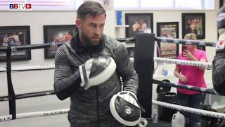 BOMBS AWAY! MARK HEFFRON PREPARES FOR LIAM WILLIAMS (PAD WORKOUT)