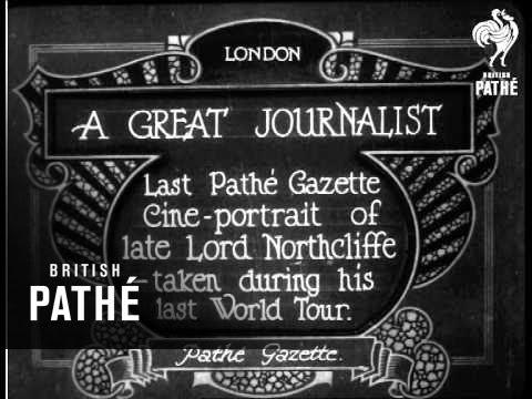 A Great Journalist (1922)