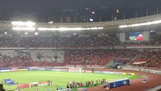Lagu kebangsaan Indonesia Raya Qatar vs Indonesia