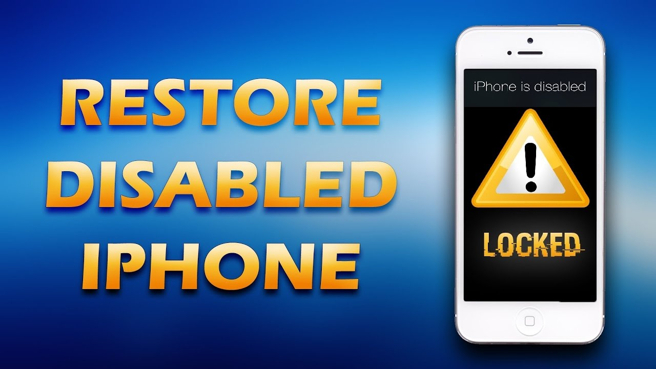 how to fix a disabled iphone iphone disabled connect to itunes recovery all model 18811