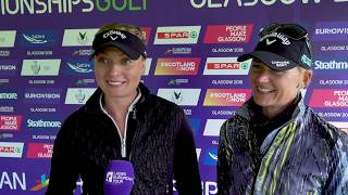 Cajsa Persson & Linda Wessberg are very pleased to be through to the semi-finals