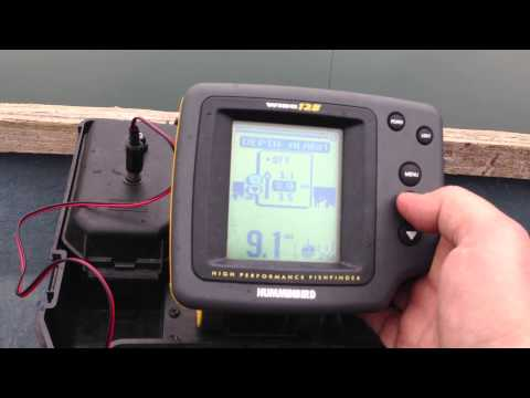 Humminbird Wide 128 Fishfinder, Humminbird wide eye fishfinder, halradar